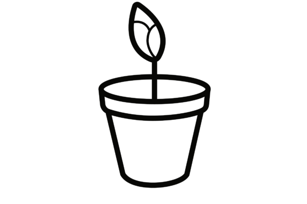 Plant on pot icon